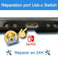 Réparation connecteur de charge Nintendo Switch Paris