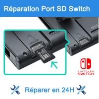 Réparation lecteur micro sd Nintendo Switch Paris